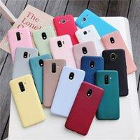 Coffret Color Color Silicone Téléphone pour Samsung Galaxy J7 Pro J5 J3 2017 2016 2015 A6 A8 J8 J6 J4 Plus 2018 Couverture TPU douce Matte