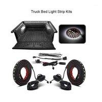 """Interiorexternal luci 2pcs 60 """"Bianco LED Cargo Camion Letto Light Strip Impermeabile con interruttore on-off Fusibile Cavo splitter a 2 vie per foto"""