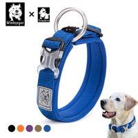 Truelove Pet Hundekragen Nylon Training Running Haustier Designer Hundehalsbänder Reflektierende Gurtband Pitbulls Collerette Chien Comortable Q1119