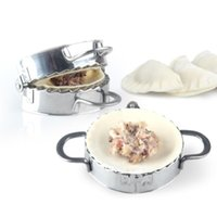 Nouveaux outils de pâtisserie respectueux de l'environnement en acier inoxydable boucle de bouillonneuse emballage de pâte de pâte de pâte à pâte à pâte à pâté de raviolis moulin de cuisine CCD3501