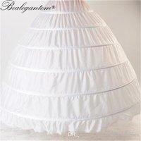 2021 Heißer Verkauf Ballkleid auf Lager Hochzeitszubehör Petticoat Ballkleid 6 Hoops Unterkirt für Hochzeitskleid Crinoline q05