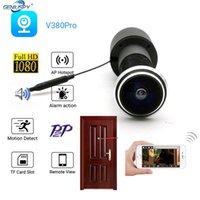 V380 برو 180 درجة مراقبة شبكة الفيديو الصوت P2P فتحة بطاقة SD 1080P أمن الوطن باب العين باب الثقب wifi ip كاميرا LJ201209