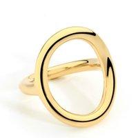 Varole Nueva llegada Anillos de bodas fríos para las mujeres Irrregular Coreano Simple estilo redondo anillo de cobre joyería al por mayor
