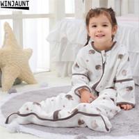 0-12 세 코튼 바비 유아 잠자는 분리 가능한 소년 소년 수면 자루 여자 아기 아이들의 봉투 아기 침낭 lj201023