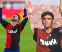 Nummer 10 Messi Gedenken Maradona Football Jersey Newells alte Jungen Home Soccer Jerseys Maradona Soccer Hemden Nummer 10