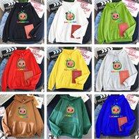 XS-4XL Unisex Cocomelon Hoodie Cartoon Plüsch Fleece Pullover Sport Lässige Kapuzenpullover Designer Tops Mantel Warme Jacke Tuch LY10292