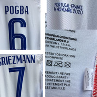2020 Match Worn Playe Edição Grisezmann Mbappe Pogba com Detalhes Detalhes Futebol Patch Badge