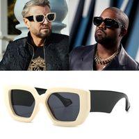 2020 جديد مصمم الأزياء المتضخم مضغوط نظارات الرجال خمر درع بارد ins نساء نظارات الشمس uv400 lbd