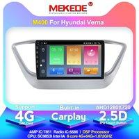 Lecteur DVD de voiture Mekede Android10.0 4G + 64G Radio multimédia Navigation GPS pour Solaris Verna 2021 Carplay intégré 4G LTE
