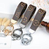 3 ألوان أزياء المفاتيح زهرة طباعة نمط جلدية سلاسل السيارات الأزياء مفتاح حلقة الحبل لطيف مفتاح المحفظة سلسلة حبل سلسلة