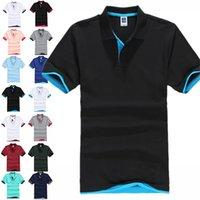 Рубашка Brand Polo Мужские Летние Дезигр Чистый хлопок Короткая Рубашка Бизнес Повседневная Дышащая Рубашка Поло Рубашка Плюс Размер 3XL Y1120