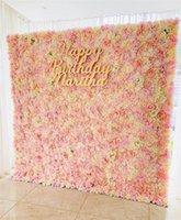Yüksek Kalite Ins Çiçek Duvarı 40x60 cm Ipek Gül Yapay Çiçekler Duvar Düğün Parti Dükkanı Mall Arka Plan Dekorasyon Için