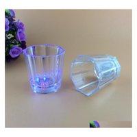 Renkli led fincan yanıp sönen atış led plastik gözlük aydınlık neon fincan doğum günü partisi gece bar düğün içecek win jllcvd bdefight