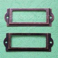 83 * 30mm Antik Bronz Dekoratif Etiket Çerçevesi, Kutu Fiyat Kartı Etiketi Tutucu Vintage Teneke Raf Metal Çerçeveleri Işareti Ekran Kol Kilidi1