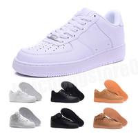 Nike air max force 1 one 2021 أعلى جودة مان جديد أزياء منخفضة عالية أعلى أبيض عارضة أحذية سكيت أحذية النساء الأسود الحب للجنسين منها 1