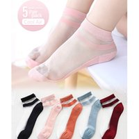 Çocuk Çorap Lady Yaz Ince Prenses Ultra-ince Cam Ipek Kristal Çorap Bebek Pembe Çocuk Buz Stok Kız Pretty 200925