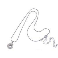 20 stücke Silber Halsketten 18mm Noosa Chunk Ingwer Snap Knöpfe für Halskette DIY Snap Schmuck Anhänger NE SQCUJR Queen66