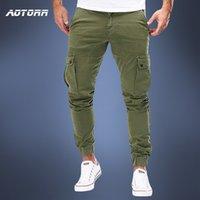 Erkekler Kargo Askeri Pantolon Sonbahar Rahat Sıska Pantolon Ordu Uzun Pantolon Joggers Sweatpants 2020 Spor Camo Pantolon Trendy 2020 B1202