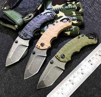 Kershaw 8750 포켓 접이식 나이프 8Cr13Mov 스톤 씻어 전술 낚시 칼 사냥 생존 선물 나이프 야외 EDC 도구