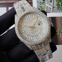 Moda de lujo MENS Diamond Watch Rose Gold Calendar Pulsera de oro plegable CLASP Master Designer Men Relojes