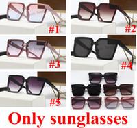 Nueva Moda Hot Designer Plaza Ojo Gafas de sol Unisex Marco de gran tamaño Vintage Gafas de sol negro Oculos de Sol UV400 5 Color 10pcs Fast Ship