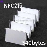 Carte NFC NFC pure Blanche NFC 13.56MHz NFC215 PVC Carte de PVC 540Bytes RFID Tag de proximité NFC Terminaison brillante / Finition mate pour système de contrôle d'accès