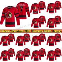 Ottawa Senators Jersey 2020-21 REBRESS RETO RETRO 7 BRADY TKACHUK 30 MATT MURRAY 71 CHRIS TIERNEY 17 GALCHENYUK HOCKEY JERSEYS
