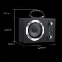 Novo M10 20W Bluetooth Bluetooth Sem Fio Subwoofer Portátil Sem Fio Sem Fio Canção Cartão de Canção u Disk Radio Audio com Mic