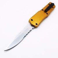tamanho completo grande A07 9inch ouro dupla ação automática de caça automática dobrável lâmina fixa faca de bolso faca de sobrevivência faca xmas presente