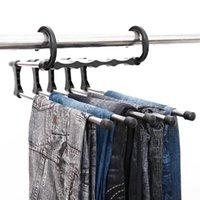 متعددة الوظائف ماجيك الملابس شماعات الفولاذ المقاوم للصدأ أنبوب السراويل رف قابل للسحب الملابس بنطلون حامل تخزين شماعات المنظم المنزل LX4081