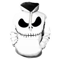 Biaolun Maschio Felpa Maschio Zucca King Jack Skellington Evil Smile Pattern Spring Men Uomini Felpe Cool Streetwear Halloween Party Y200704