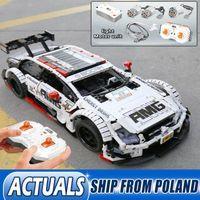 Техника игрушки автомобилей Пульт дистанционного управления Benzs Moc 6687 Модель Комплект Строительные блоки Кирпичи AMG C63 Игрушки для детей подарок LJ200930