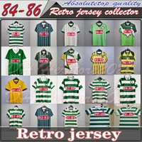 82 84 86 89 89 89 Celtic Retro Soccer Jerseys 1991 1992 1998 1999 Camicie da calcio Larsson Classic Vintage Sutton 1995 1997 Kit di calcio Top