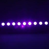 뜨거운 판매 AC100V-240V 260W UV 9-LED 원격 제어 / 자동 / 사운드 / DMX 자주색 빛 DJ 웨딩 파티 무대 조명 블랙 무대 조명