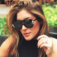 선글라스 빈티지 여성 브랜드 디자이너 한 렌즈 절반 프레임 거울 여성 그늘 진주 태양 안경 oculos