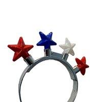 다섯 개의 스타 머리 반지 크리스마스 할로윈 파티 다채로운 머리 장난감 멋진 빛나는 머리 반지와 귀 엽 고 재미 장식