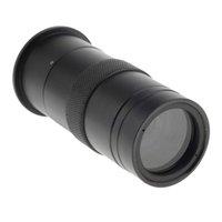 Lentes 100x Cámara de microscopio industrial digital BNC AV TV Video Zoom C-Mount Lens Magnifier