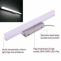 Vendita calda 12W 80 cm Nuova e intelligente lampada da bagno Lampada da bagno Bar Argento Bianco chiaro Luminosità ad alta luminosità illuminazione del materiale superiore