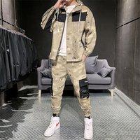 Giacche da uomo in cammuffamento con pantaloni con cappuccio con cappuccio con cappuccio Plainsuit stampato hip hop jogging homme uomo set moda inverno HH50TZ 201113