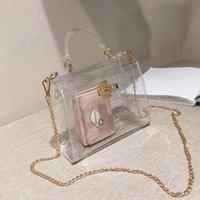 Effacer Jelly Sac Pvc pour les femmes 2020 Sacs à main femmes Sacs Pvc Designer Transparent Sacs à main et sac à main sac à bandoulière Sac A Main