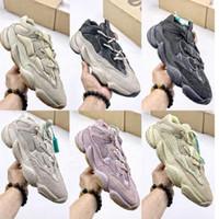2021 أفضل جودة حجر الرؤية الناعمة الأحذية الصحراء الفئران 500 الرجال النساء الأحذية العظام الملح الأبيض سوبر القمر الأصفر استحى أحذية