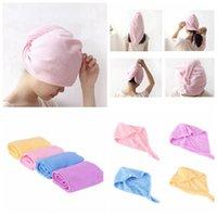 Toalha de cabelo seco Microfiber Seco Cabelos Caps Soft Confortável Lady Bath Caps Instrução Individualmente Envoltório Quick Duche Cyz2932 100 pcs