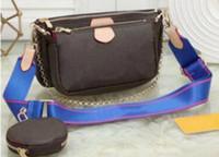2021 최고 품질 3 조각 세트 가방 여성 크로스 바디 가방 정품 럭셔리 핸드백 지갑 남자 레이디 토트 백 동전 지갑 3 가방 9913