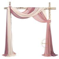 """Cortina cortinas de casamento arco drabing tecido 29 """"largura 6,5 jardas chiffon cortina cerimônia recepção ganhos"""