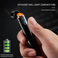 مصغرة الولاعات USB Touch-Senstive التبديل ولاعة ولاعة السجائر يندبروف عديمة اللهب قابلة للشحن أخف إلكترونية للتدخين