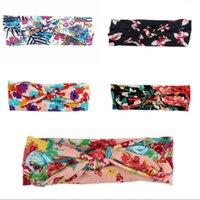 Bande capelli per neonati 7 Design Piccola fascia floreale Floral Bambino Bow-Tie Fandbands Bambini Headwear Girls Hair Bands 393 J2
