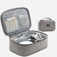 Tuuth كابل تخزين حقيبة السفر الالكترونيات المنظم دفتر الرقمية حقيبة التخزين للسماعة يو القرص شاحن USB قوة البنك