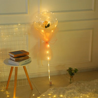 LED 로즈 보보 공 빛 발렌타인 데이 선물 웨딩 장식 바다 선물 GGA3844 선물에 대 한 투명 거품 공