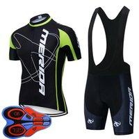 Erkekler Bisiklet Forması Set Merida Takımı 2020 Yeni Yaz Kısa Kollu Yol Bisiklet Üniforma MTB Bisiklet Kıyafetler Açık Spor S21012932