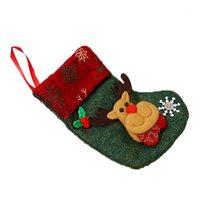 الحلوى شنقا سانتا كلوز جوارب عيد الميلاد الجوارب مهرجان عطلة هدية حقيبة قلادة شجرة ديكورات غير المنسوجة الأقمشة home1